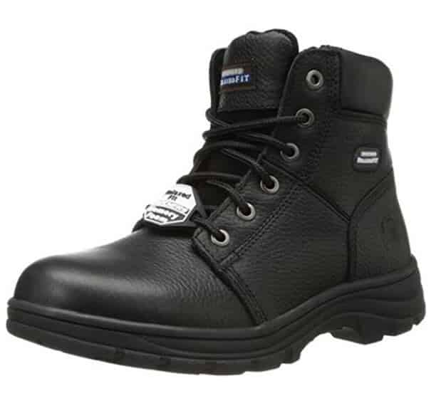 Black Skecher Workshire boot for electricians